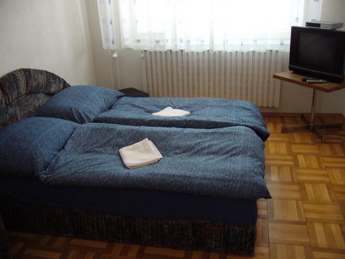 Modrý pokoj pro dvě osoby